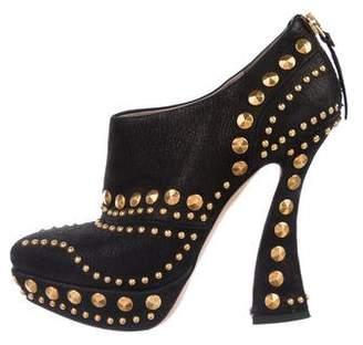 Miu Miu Studded Leather Booties