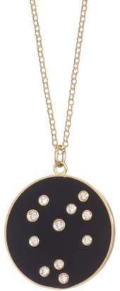 Bare Constellation Sagittarius Diamond Enamel Pendant Gold Necklace