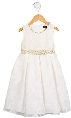 Fleurisse Léon Girls' Embellished Sleeveless Dress