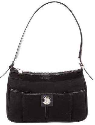 Tod's Small Leather-Trimmed Shoulder Bag