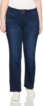 Angels Jeans Women's Plus Size Curvy Bootcut Jean