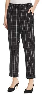 Karl Lagerfeld Paris Plaid Straight Cuffed Pants