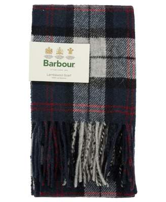 Barbour Tartan Lambswool Scarf Colour: BLUE AND GREY, Size: One Size