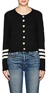 The Elder Statesman Women's Cashmere Crop Cardigan-Black