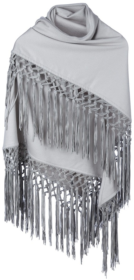 Colombo tasseled shawl