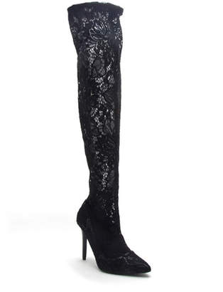 Qupid Milia Over-the-Knee Lace Boots
