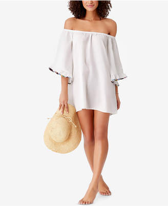 Anne Cole Studio Denim Days Off-The-Shoulder Cover-Up Women's Swimsuit