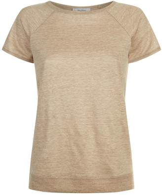 Max Mara Marl Linen Knit T-Shirt