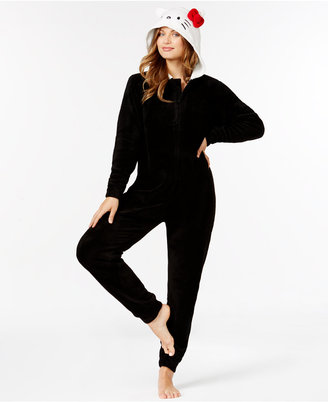 Hello Kitty Super Plush Hooded Jumpsuit $52 thestylecure.com