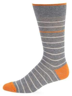 Saks Fifth Avenue Simple Stripe Crew Socks