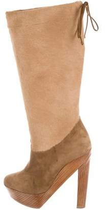 Pierre Hardy Suede Fur Boots
