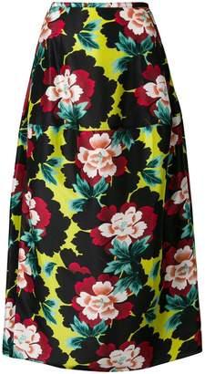 Kenzo psychadelic floral skirt