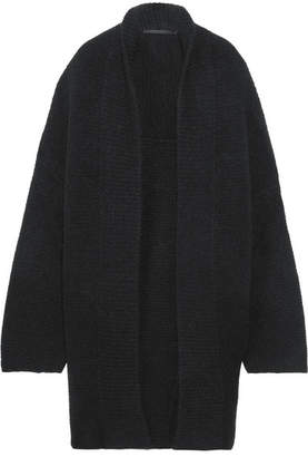 Haider Ackermann - Oversized Mohair-blend Cardigan - Black $1,215 thestylecure.com