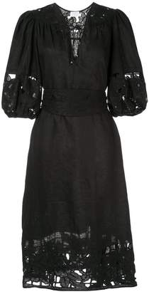 Zimmermann Juno embroidered yoke dress