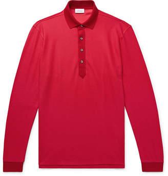 Brioni Cotton And Silk-Blend Piqué Polo Shirt