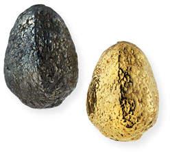 Grazia And Marica Vozza Black Silver & Yellow Golden Nugget Earrings