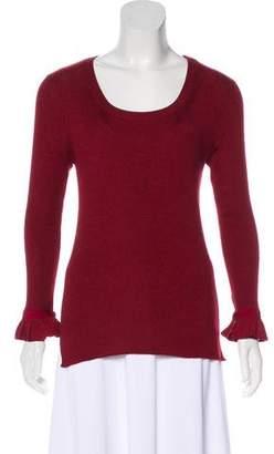 Fendi Long Sleeve Rib Knit Sweater