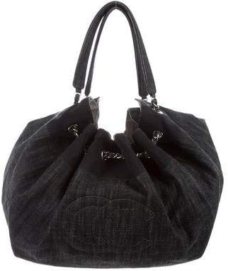 Chanel Denim Stretch Spirit Large Cabas Tote