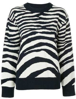 Sykes zebra striped jumper