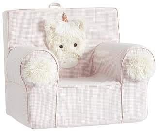 Pottery Barn Kids Pink Unicorn Shaggy Head Anywhere Chair® Slipcover Only