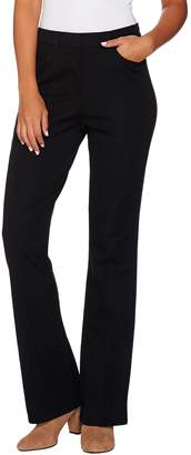 Isaac Mizrahi Live! Regular 24/7 Stretch Boot Cut Fly Front Pants