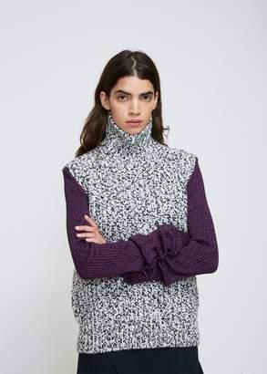 Calvin Klein Colorblock Funnel Neck Melange Knit