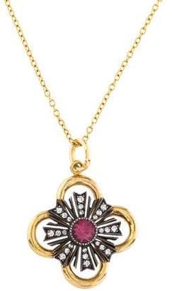 Arman Sarkisyan Pink Tourmaline & Diamond Pendant Necklace