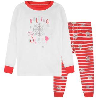 Hatley HatleyGirls Candy Cane Applique Pyjamas