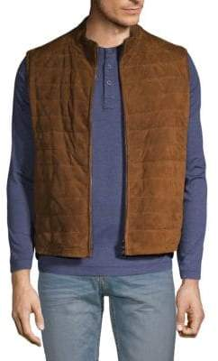 Corneliani Reversible Padded Leather Vest