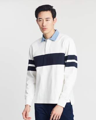 J.Crew Captain Stripe Jersey Rugby Shirt