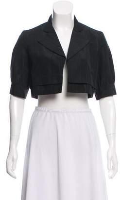 Yigal Azrouel Short Sleeve Cropped Jacket