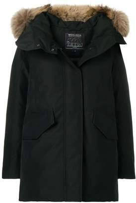 Woolrich raccoon fur trimmed hood padded coat