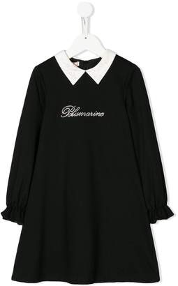 Miss Blumarine pointed collar dress