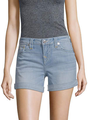True Religion Folded-Cuffs Denim Short