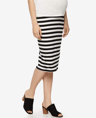 A Pea In The Pod Maternity Striped Pencil Skirt $58 thestylecure.com