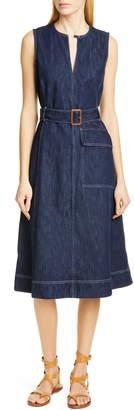 Polo Ralph Lauren Bevlry Denim Midi Dress