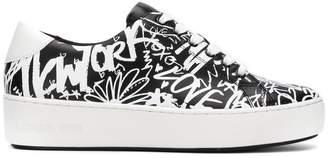 MICHAEL Michael Kors graffiti print sneakers