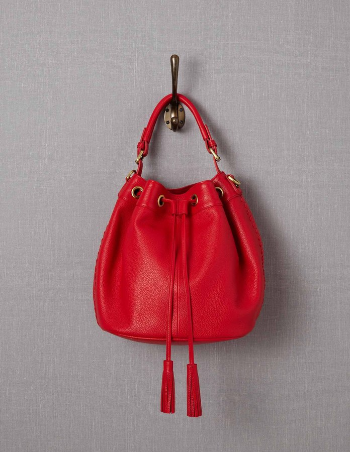 Boden Leather Pouch Bag