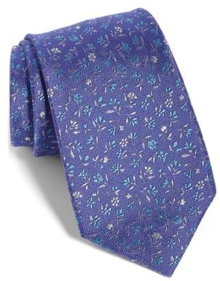 The Tie Bar Flower Fields Silk & Cotton Tie