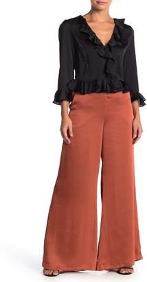 Do & Be Do + Be High Waisted Wide Leg Satin Pants