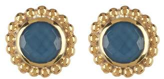 Anna Beck 18K Gold Plated Sterling Silver Blue Quartz Stud Earrings