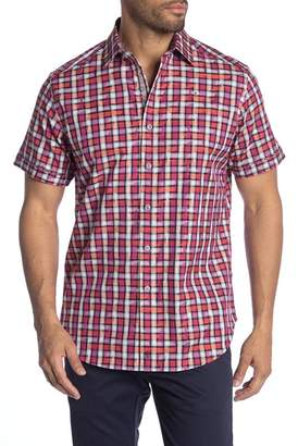 Robert Graham Tangier Short Sleeve Classic Fit Print Woven Shirt