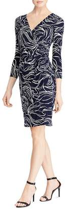 Ralph Lauren Printed Faux-Wrap Dress