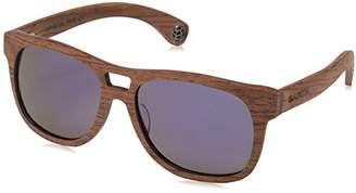 Earth Wood Queensland Polarized Wayfarer Sunglasses