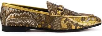 Gucci Jordaan floral brocade loafers