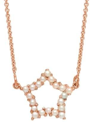 Lola Rose London - Star Mini Charm Necklace White Pearl