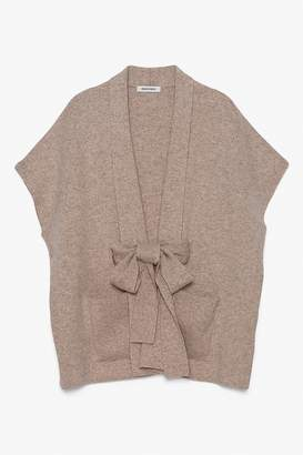 Genuine People Cashmere Bow Tie Thin Layer Cardigan