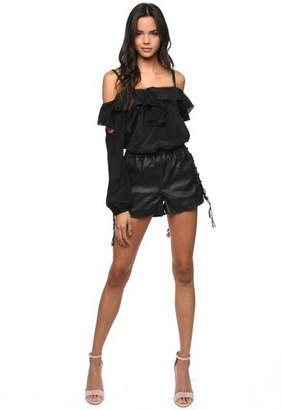 Karina Grimaldi Claudia Leather Short