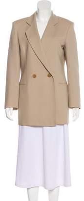 Giorgio Armani Notch-Lapel Short Coat