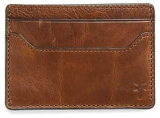 Frye Logan Leather Money Clip Card Case
